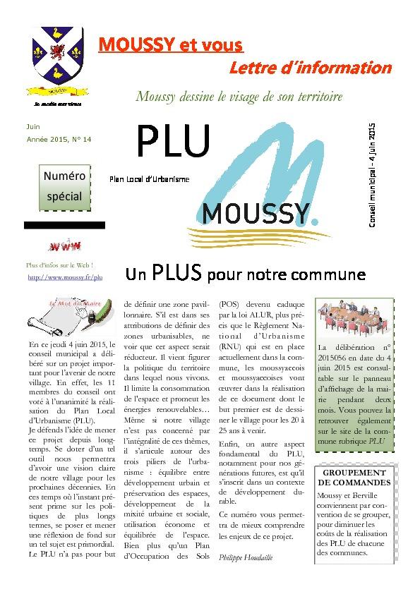 Moussy et vous – Juin 2015