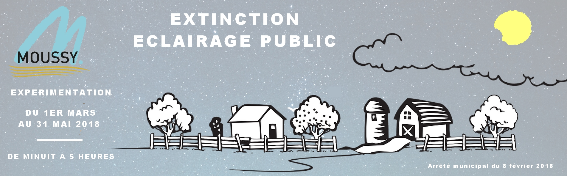 Expérimentation de l'extinction de l'éclairage public
