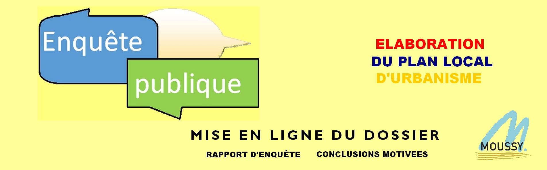 Enquête publique PLU : Rapport et conclusions