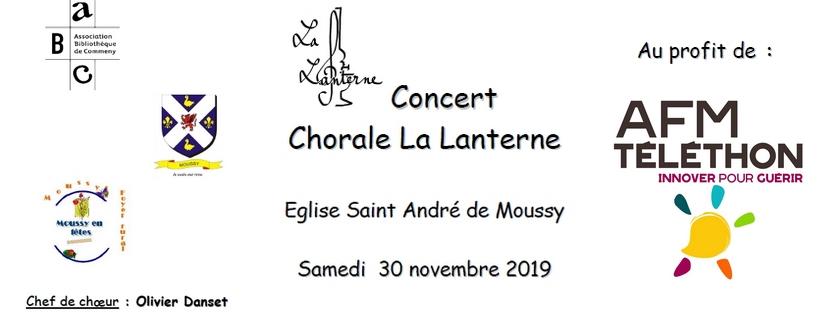 Concert du téléthon Moussy 2019