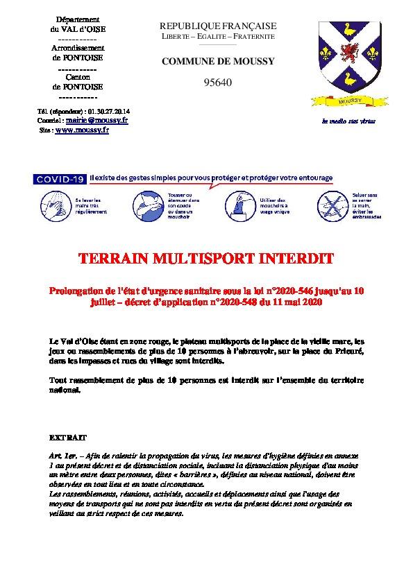 Point Info covid19 12 mai 2020